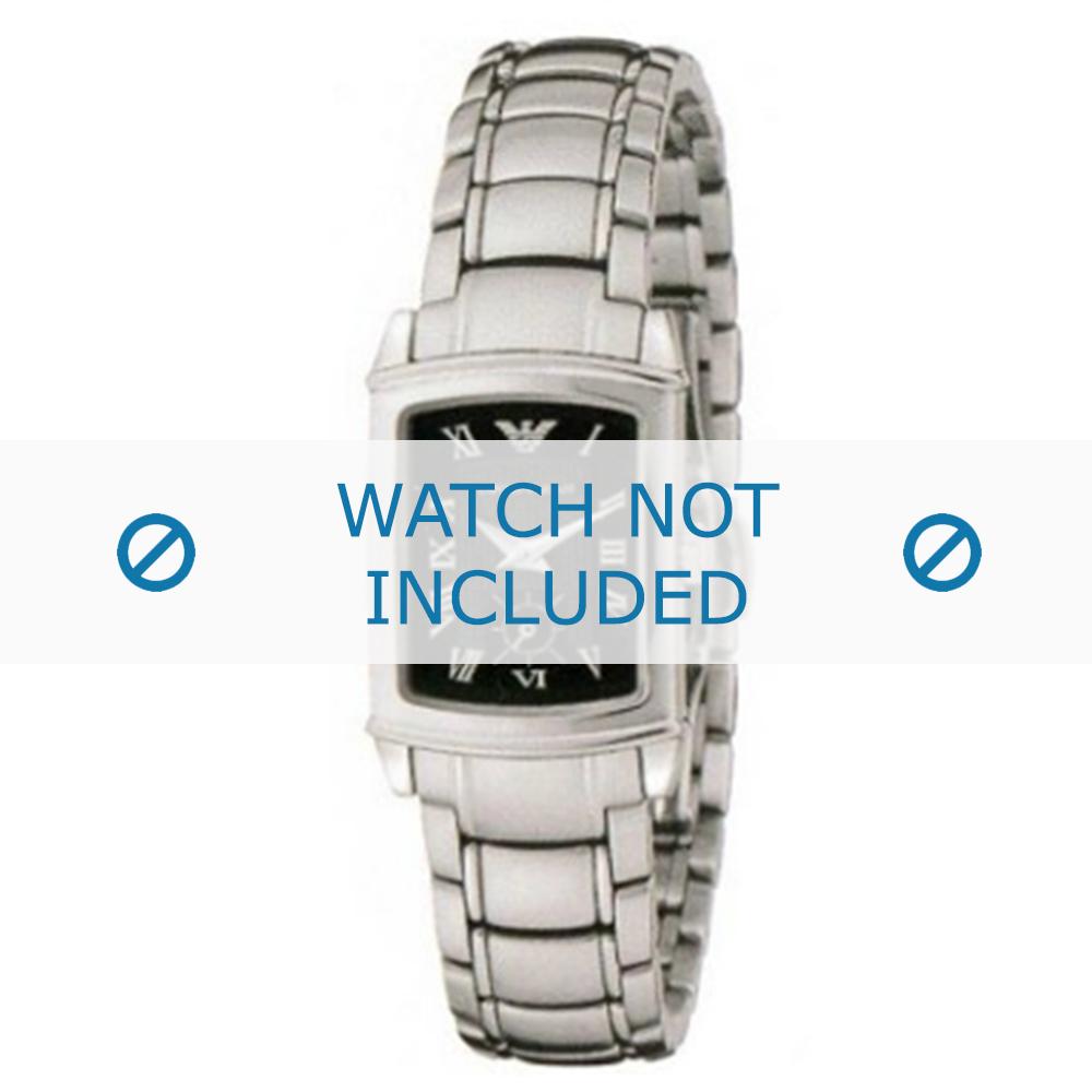 Armani horlogeband AR-0250 Staal Zilver 15mm