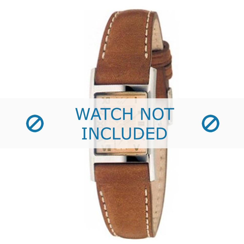 Armani horlogeband AR-0252 Leder Lichtbruin 16mm
