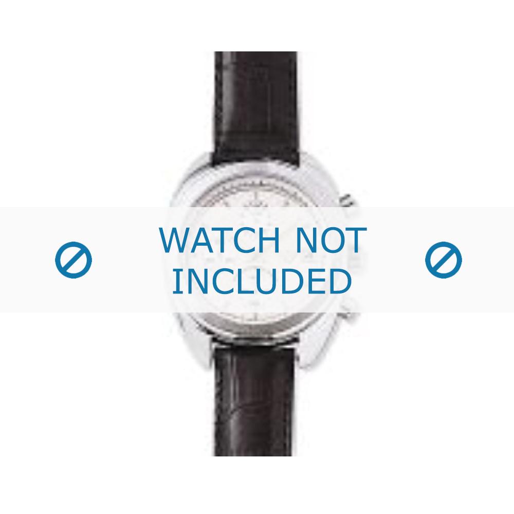 Armani horlogeband AR-0500 Croco leder Zwart 17mm