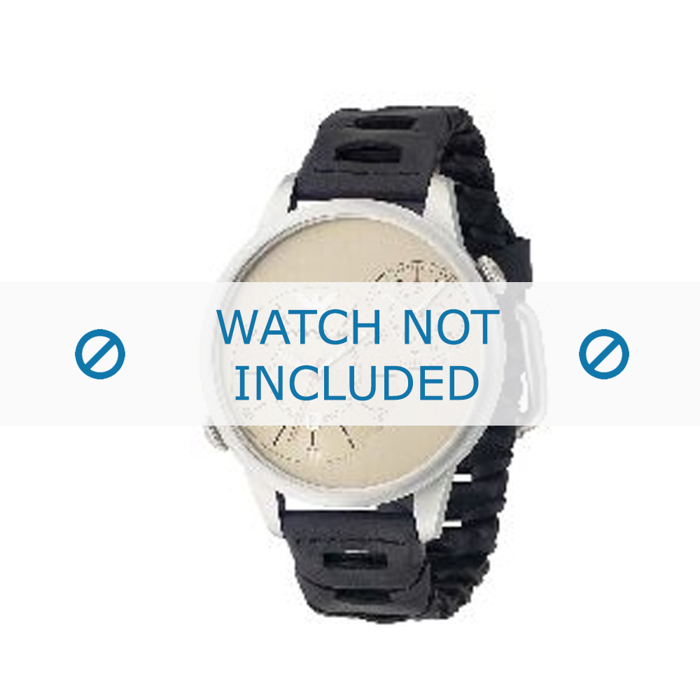Armani horlogeband AR-0514 Leder Zwart 23mm