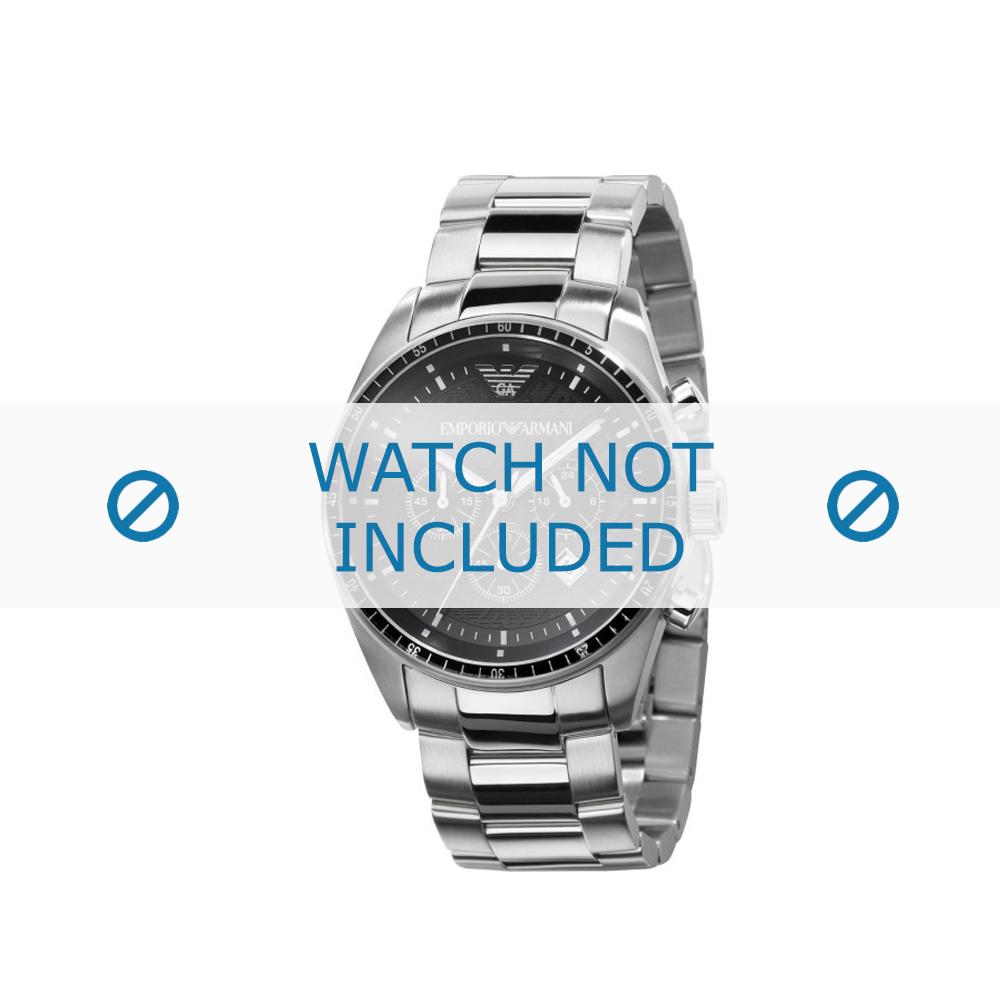 Armani horlogeband AR-0585 Staal Zilver 23mm