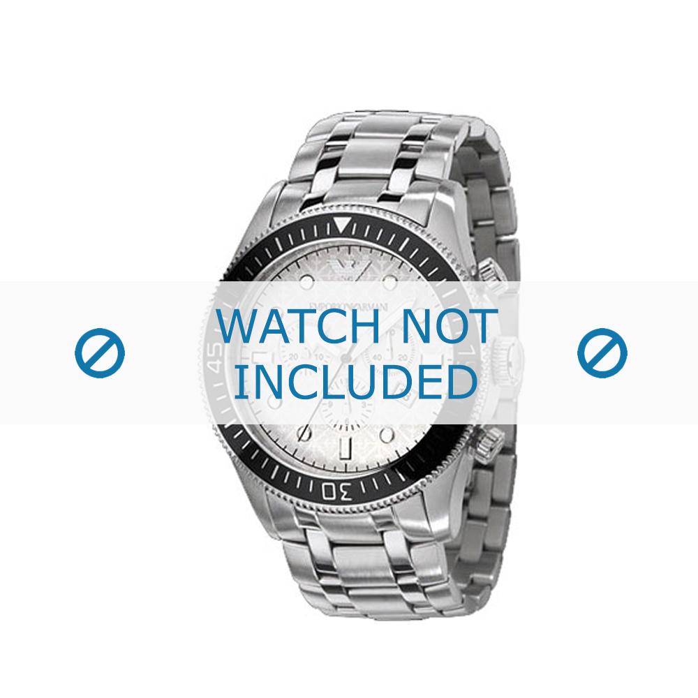 Armani horlogeband AR-0586 Staal Zilver 26mm