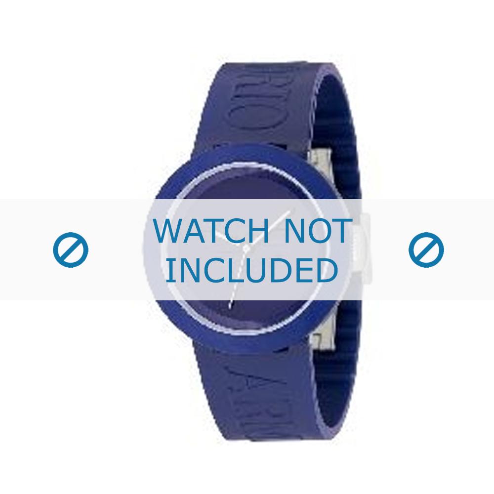 Armani horlogeband AR-1031 Rubber Blauw 22mm