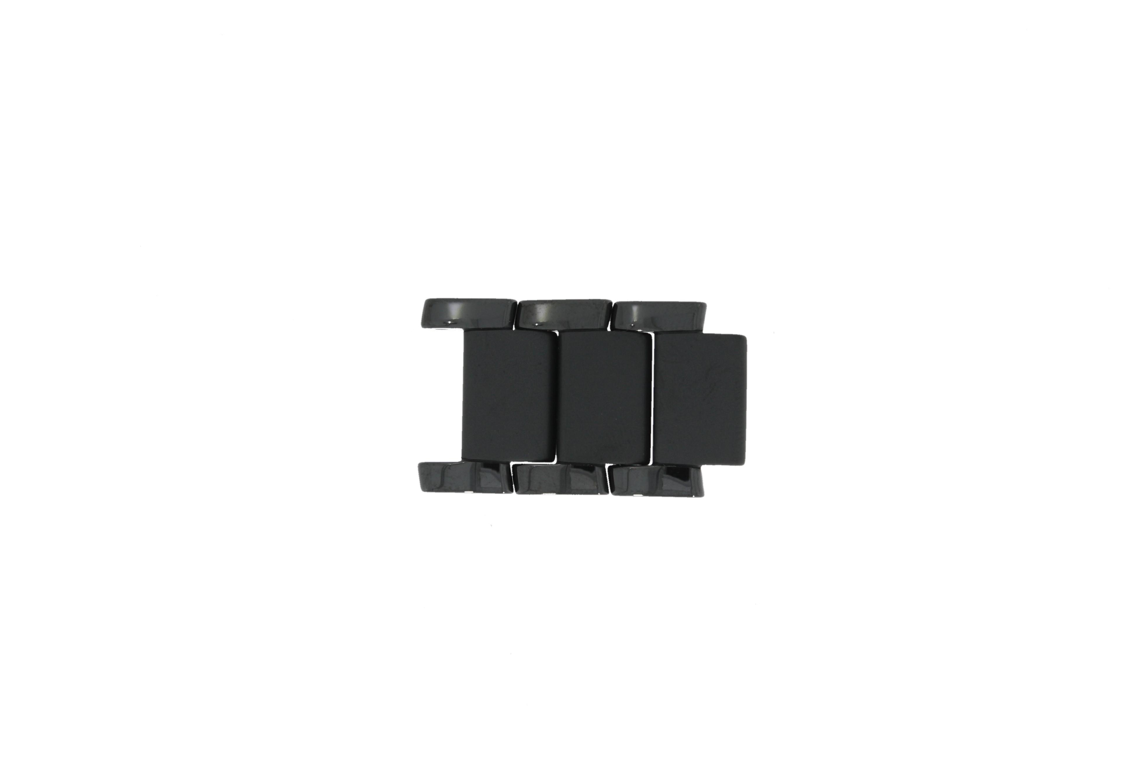 Armani AR1474 Schakels Keramiek Zwart 22mm