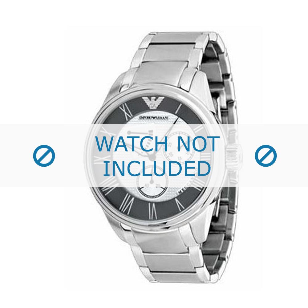 Armani horlogeband AR-4610 Staal Zilver 22mm