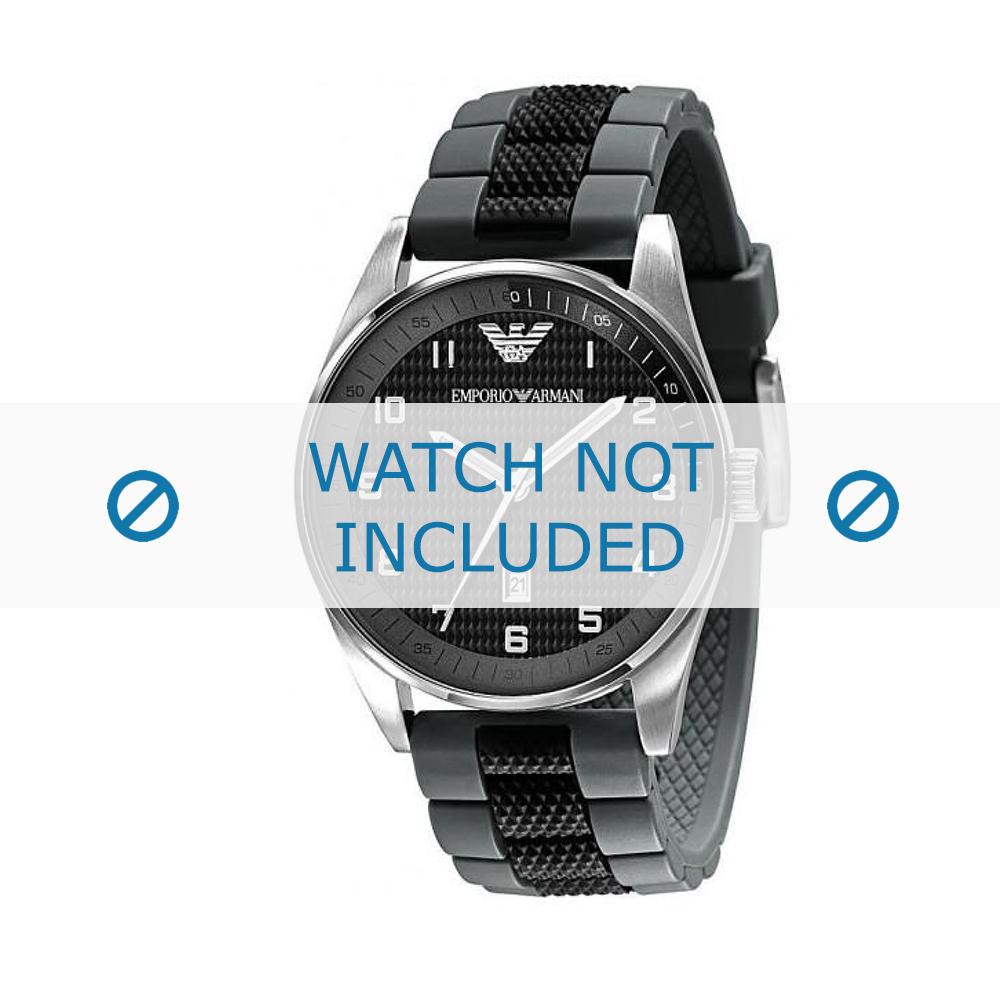 Armani horlogeband AR-5875 Silicoon Zwart 23mm
