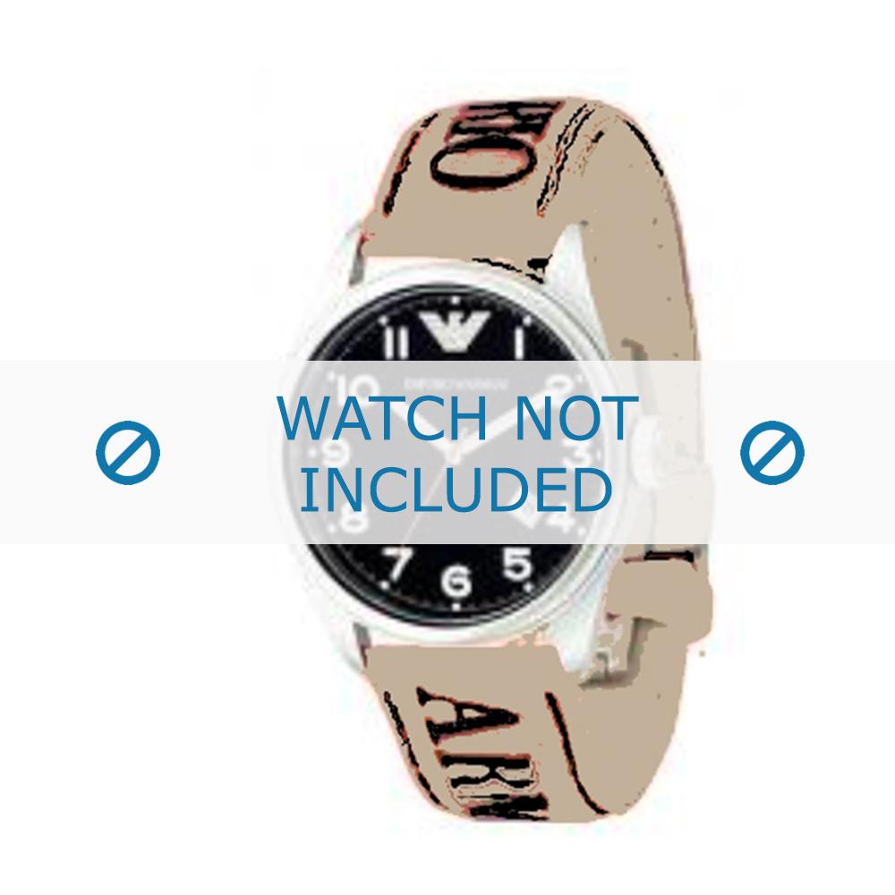 Armani horlogeband AX-8251 Leder Cream wit