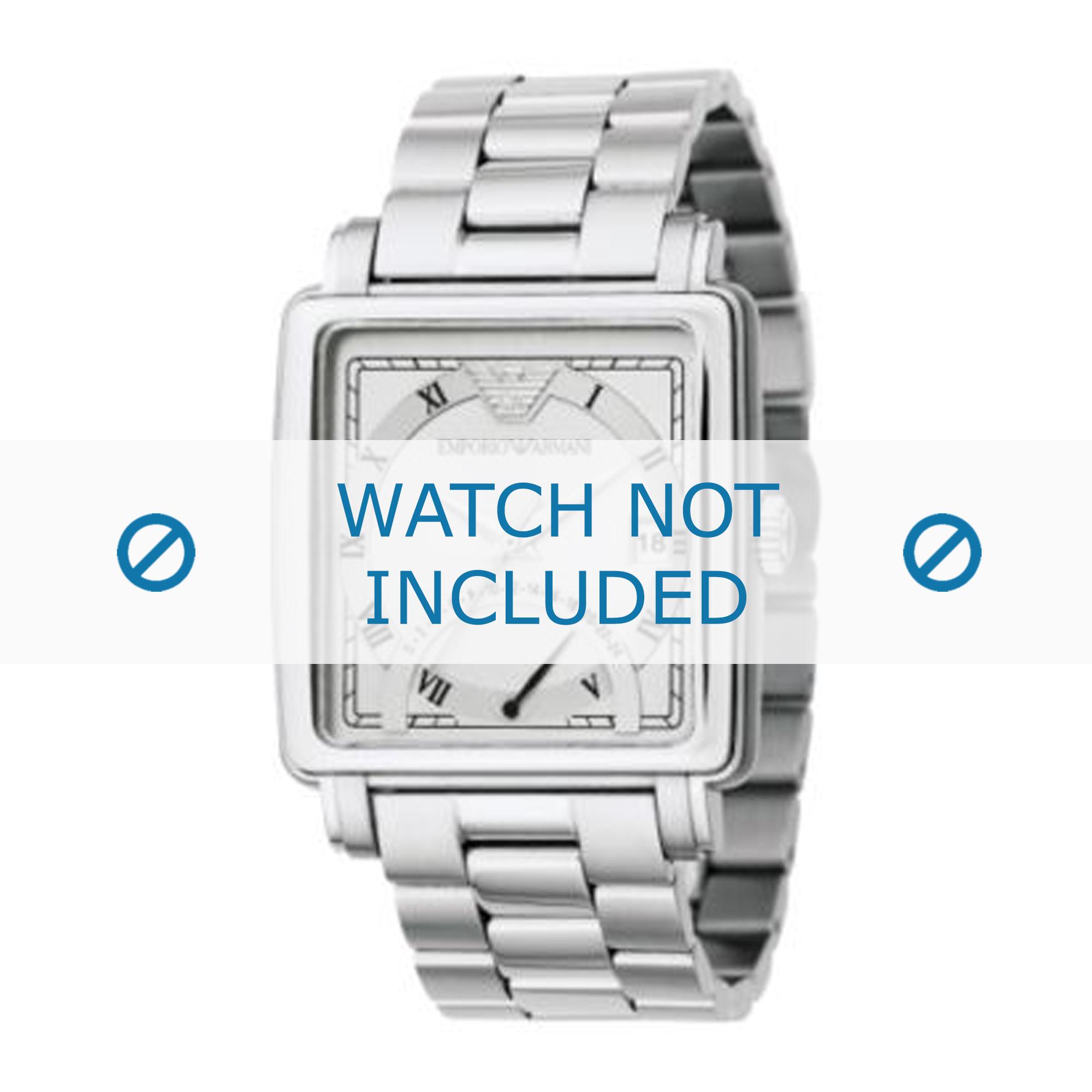 Armani horlogeband AR5330 Roestvrij staal (RVS) Zilver 22mm
