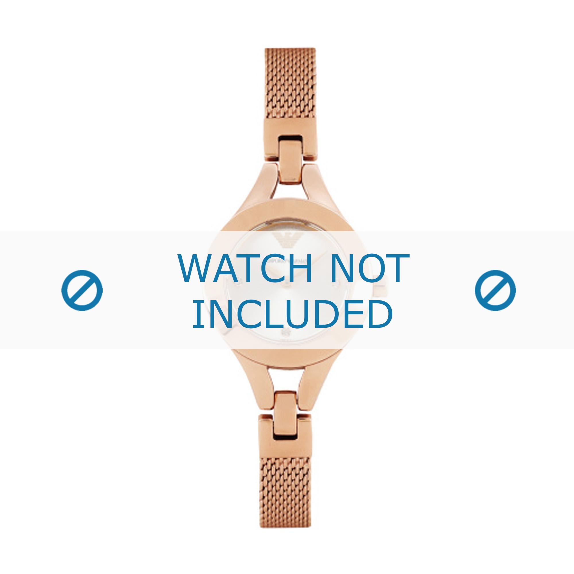 Armani horlogeband AR7362 Roestvrij staal (RVS) Roze