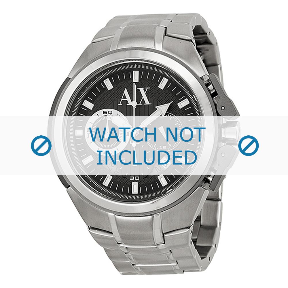 Armani horlogeband AX-1039 Staal Zilver 27mm
