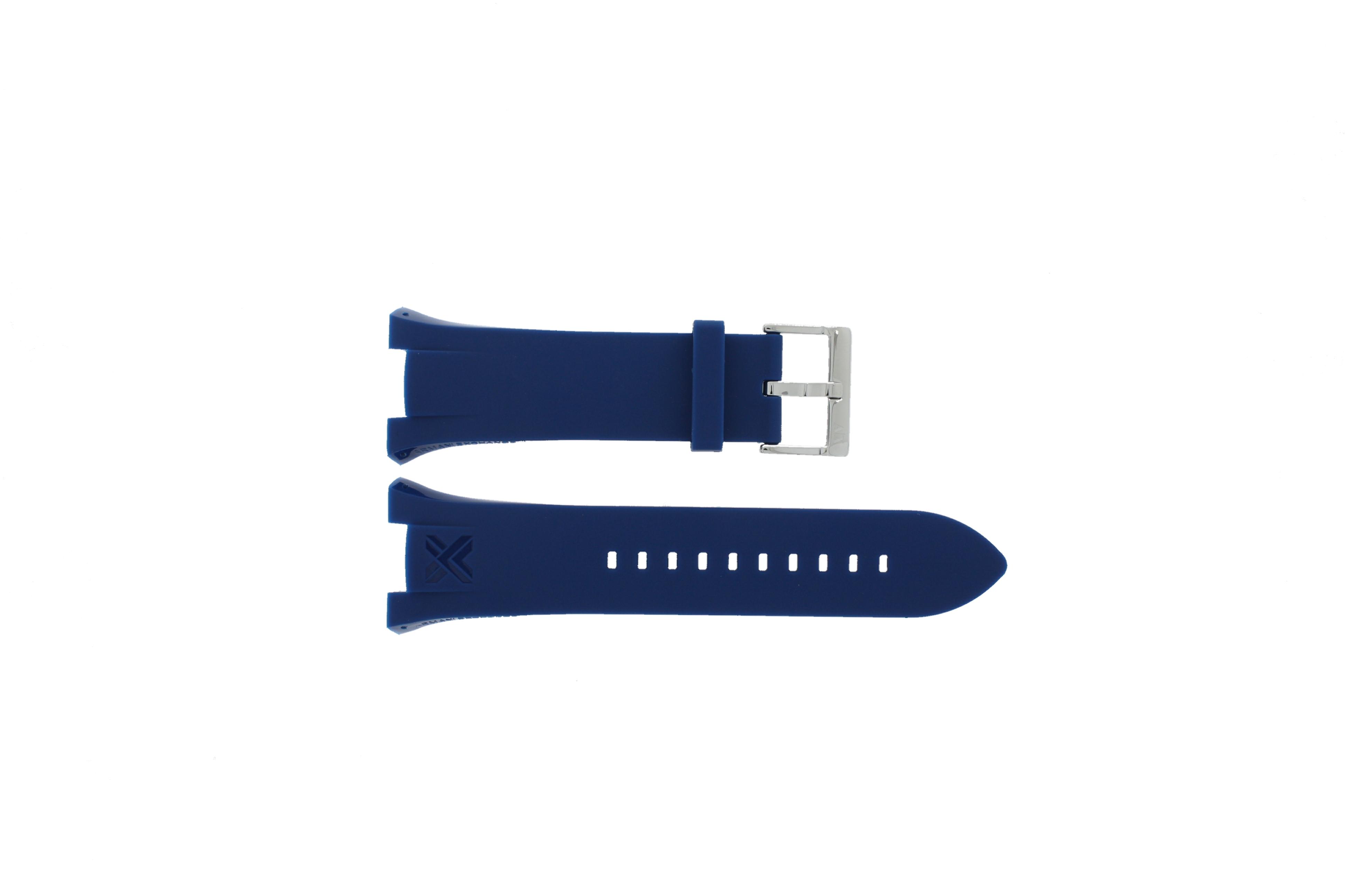 Armani horlogeband AX-1041 Rubber Lichtblauw 21mm