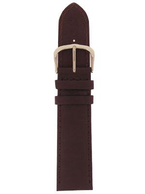 Echt leder donker bruin 18mm E-5316