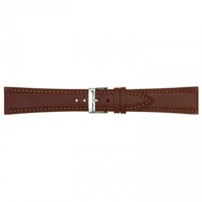 Leren horlogeband cognac 18mm PVK-662