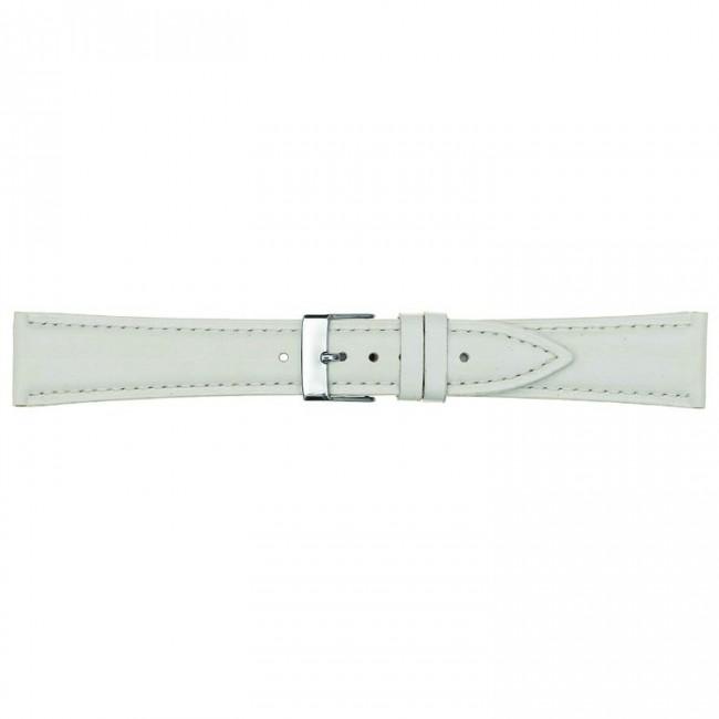 Leren horlogeband wit 14mm PVK-662