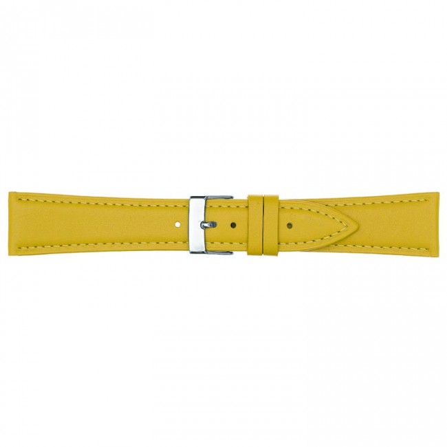 Leren horlogeband geel 18mm PVK-662