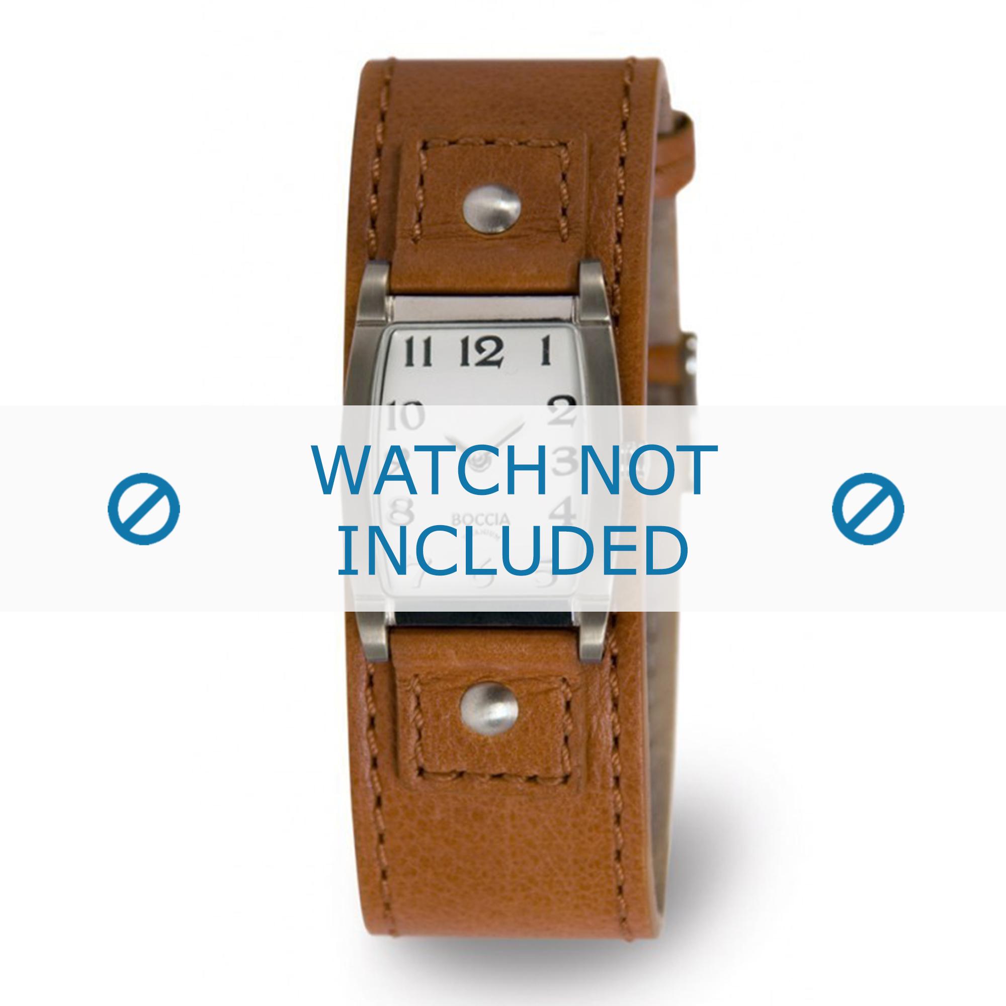 Boccia horlogeband 3147-05-BO3147-05-40 Leder Bruin 25mm + bruin stiksel