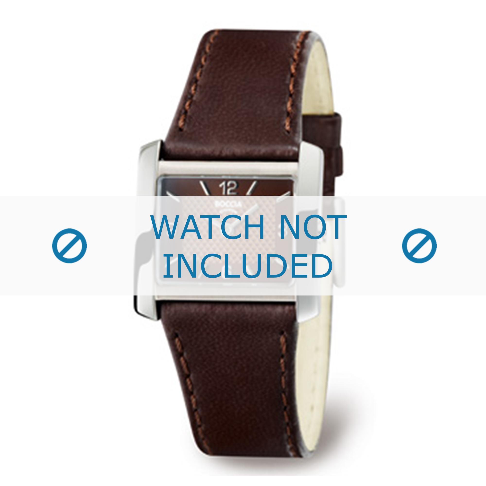 Boccia horlogeband 3155-02-BO3155-02-40 Leder Bruin 22mm + bruin stiksel