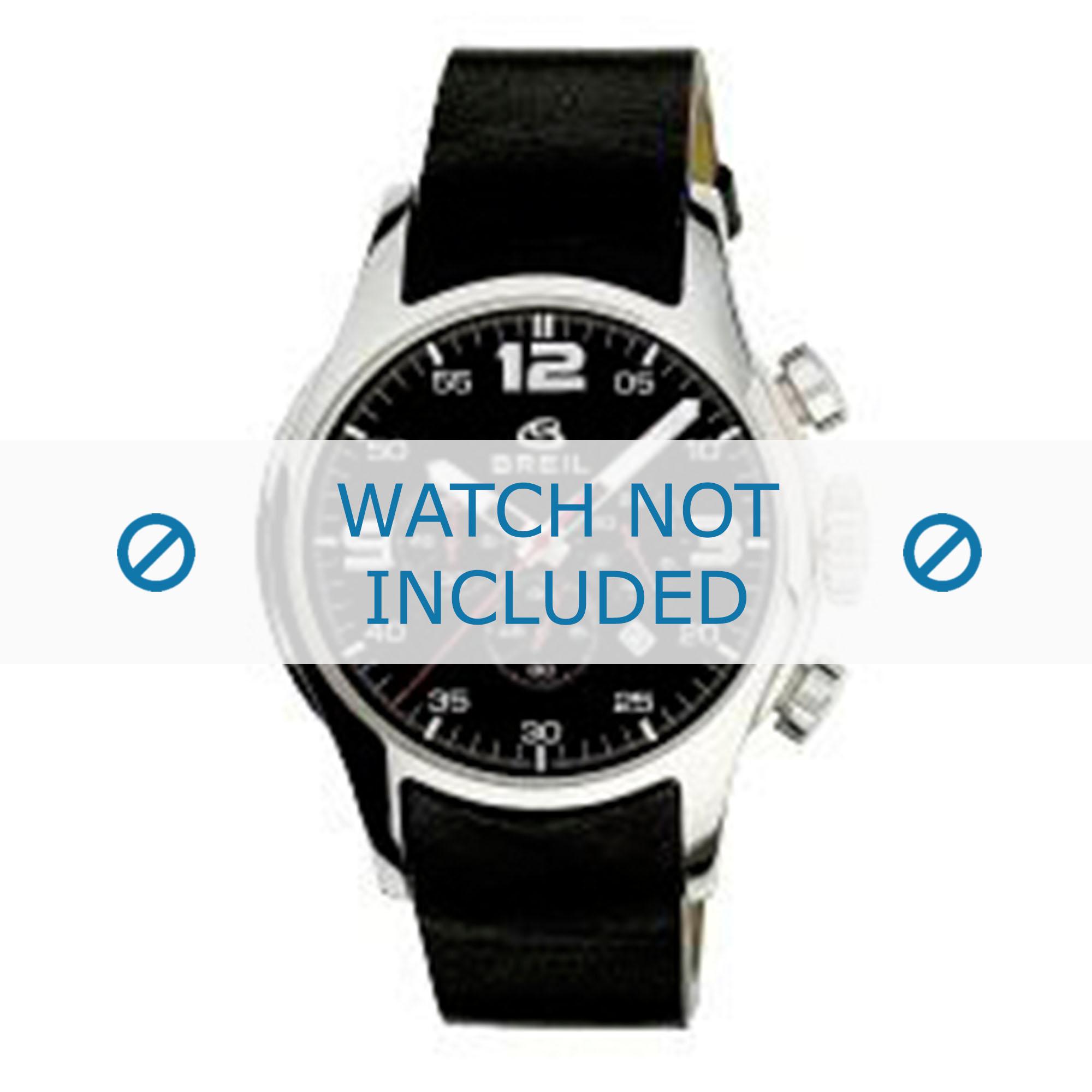 Breil horlogeband 2519774090 Leder Zwart