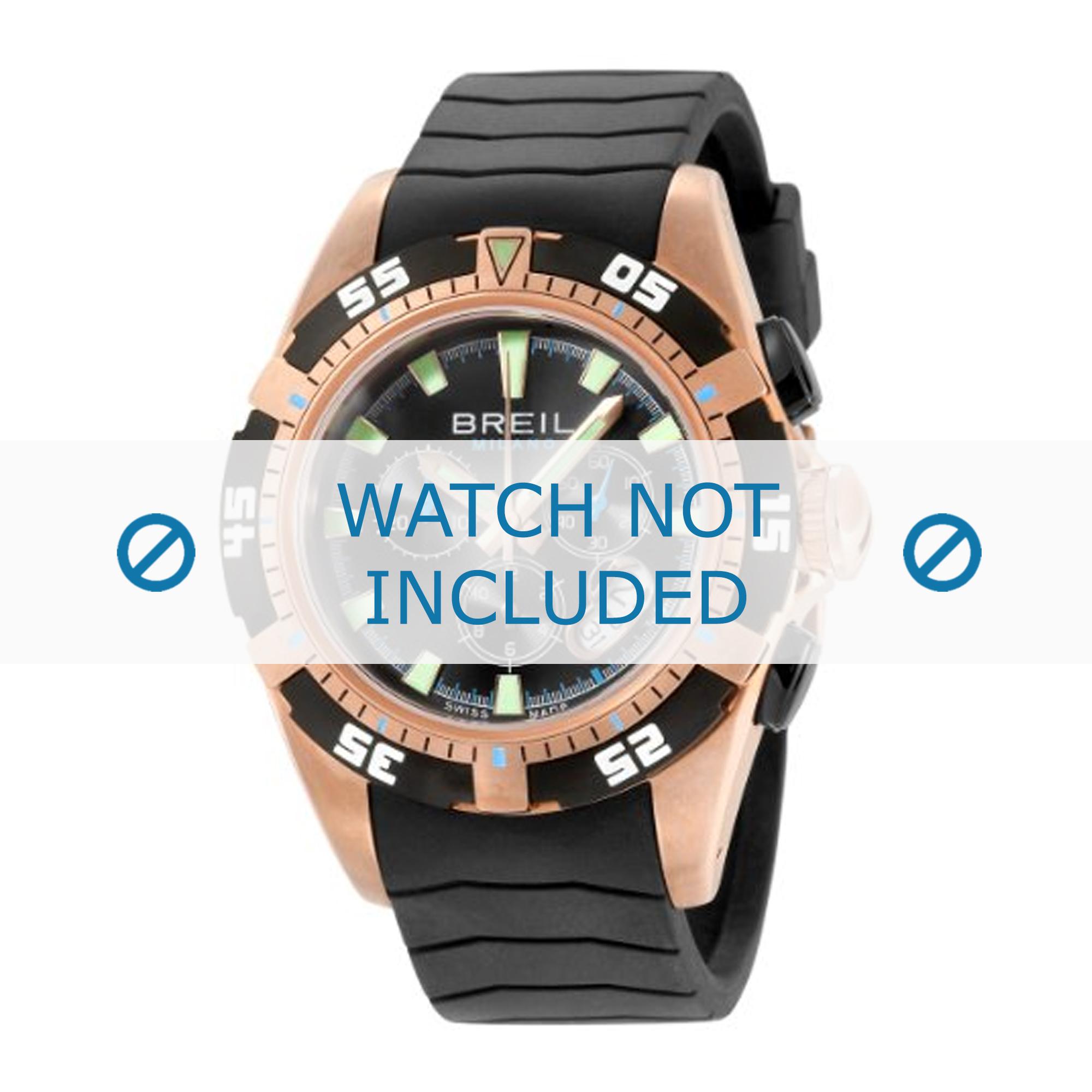 Breil horlogeband BW0410 Rubber Zwart