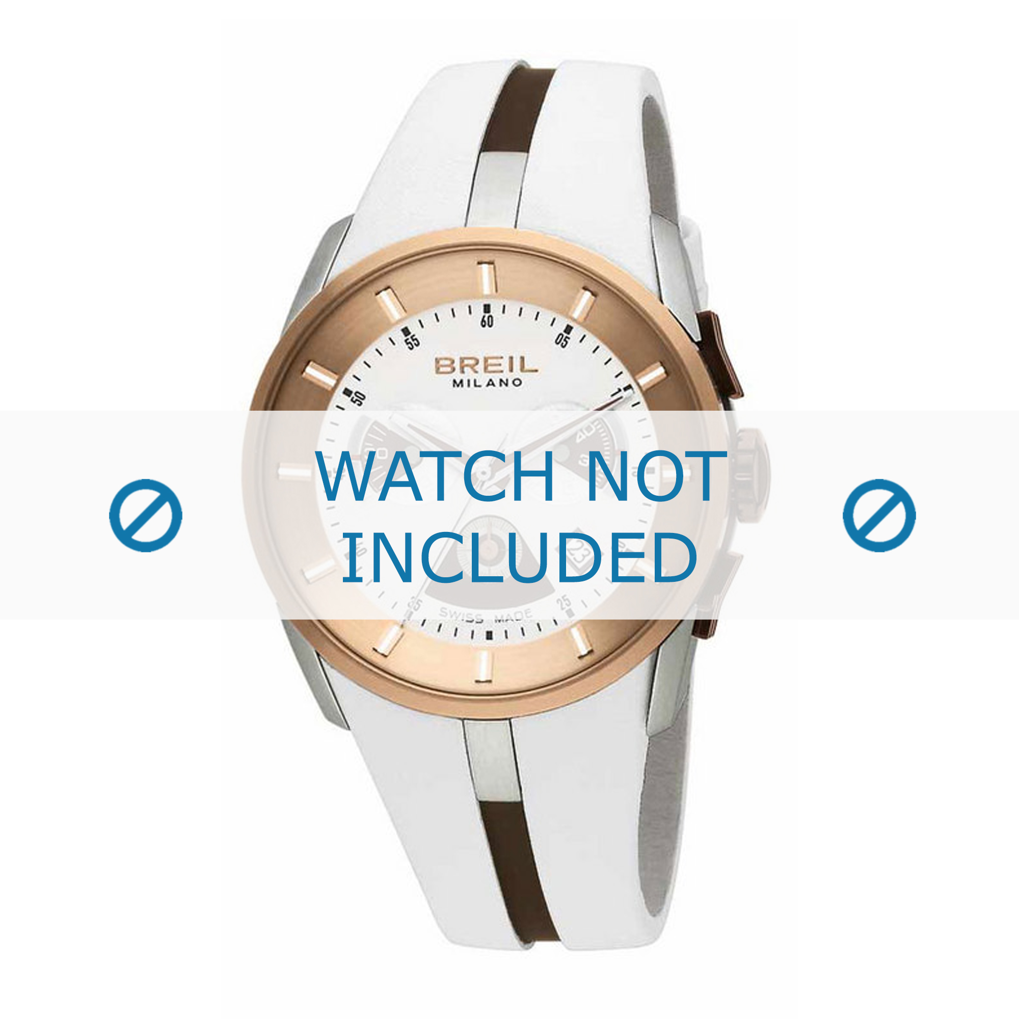 Breil horlogeband BW0428 Rubber Wit