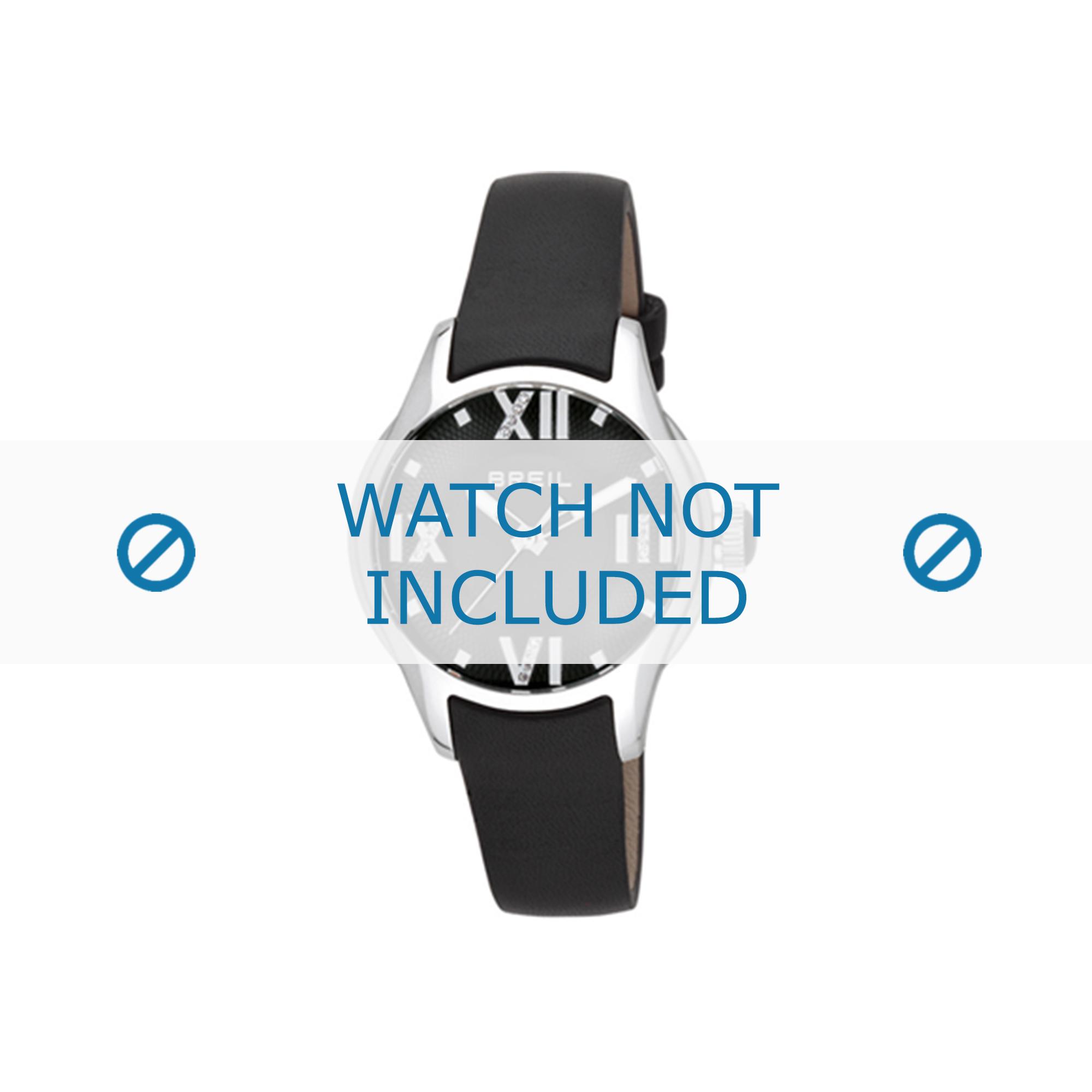 Breil horlogeband TW0780 Leder Zwart 16mm