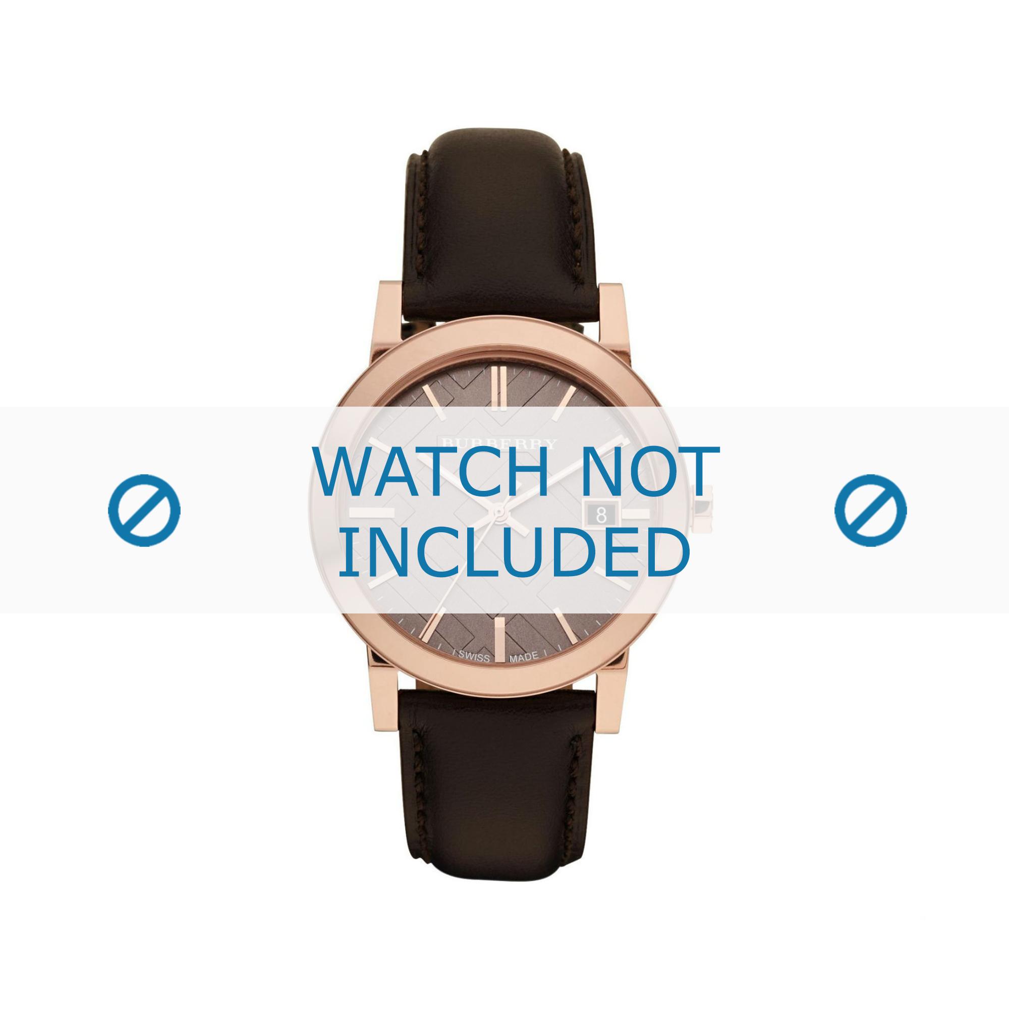Burberry horlogeband BU-9013 Leder Bruin 20mm