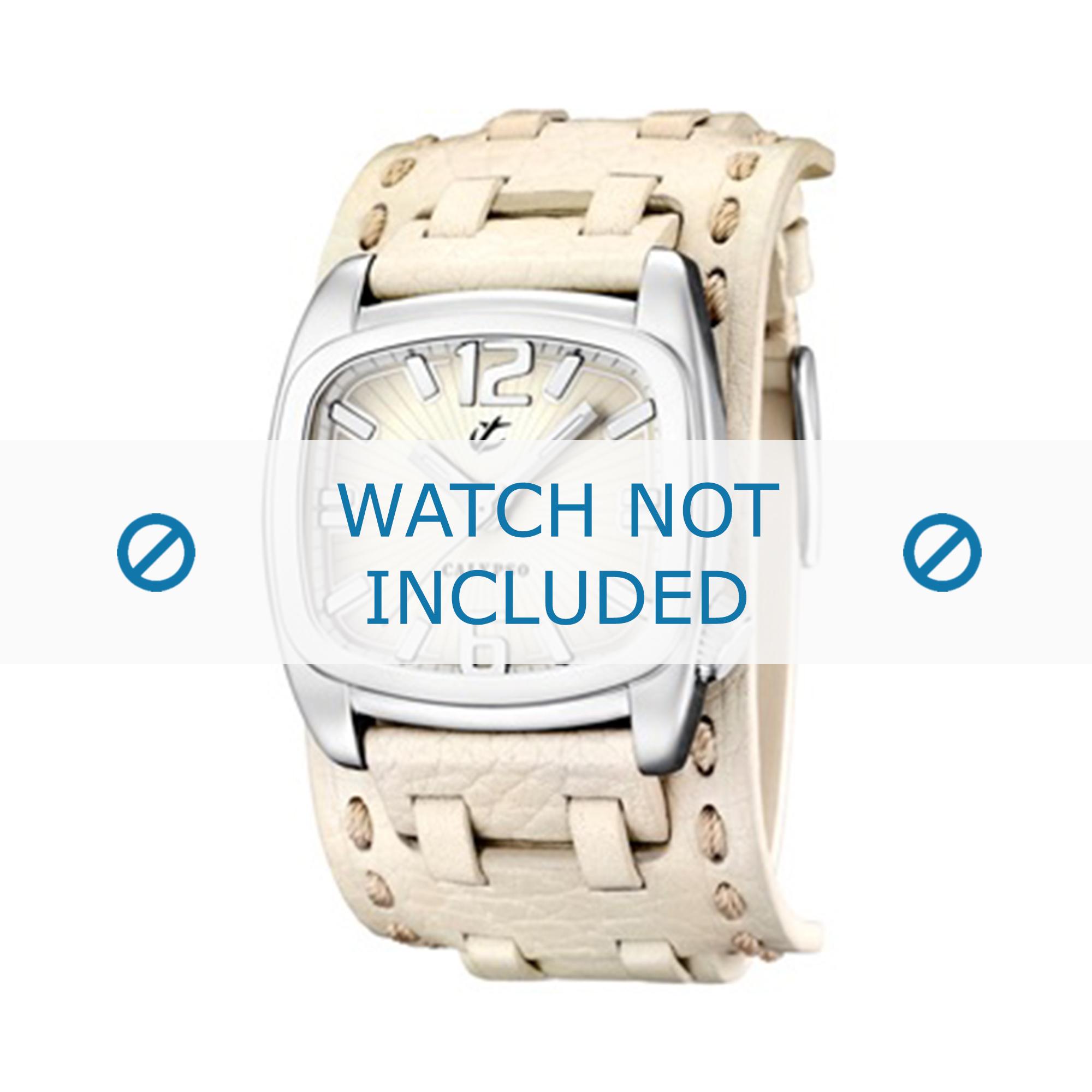 Calypso horlogeband K5224/1 Leder Wit 26mm