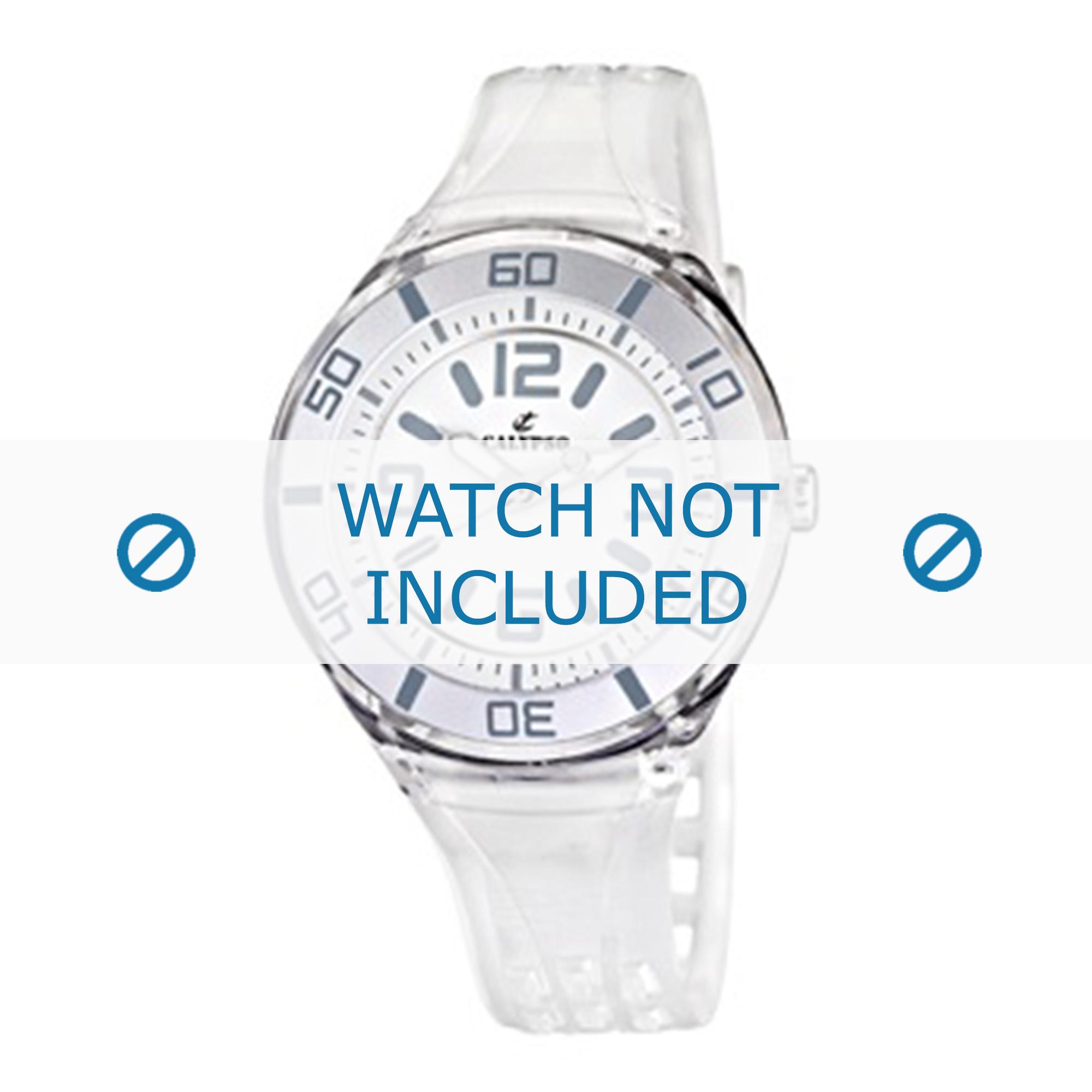 Calypso horlogeband K5588/1 Rubber Wit