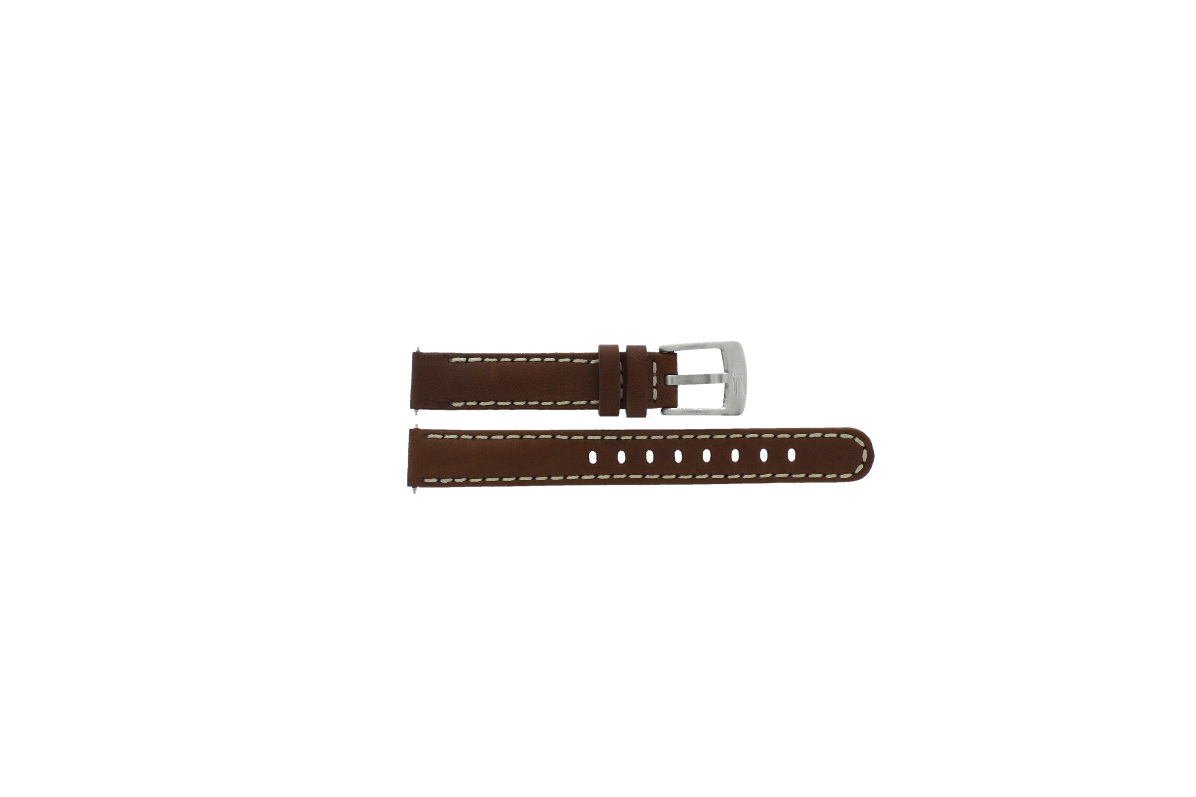 Camel horlogeband 1500-1519 Leder Donkerbruin 9mm + wit stiksel