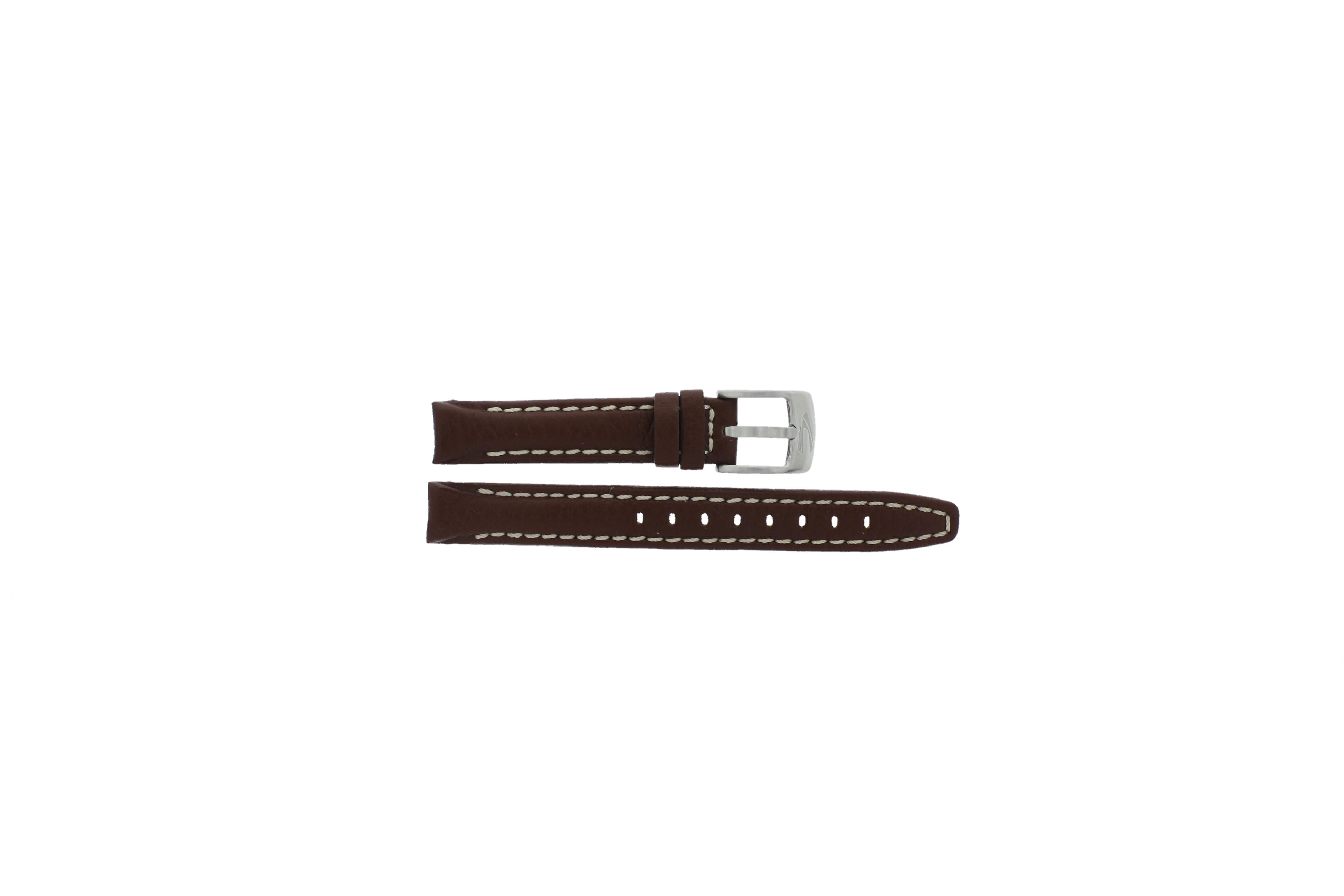 Camel horlogeband 5100-5109 Leder Bruin 14mm + wit stiksel