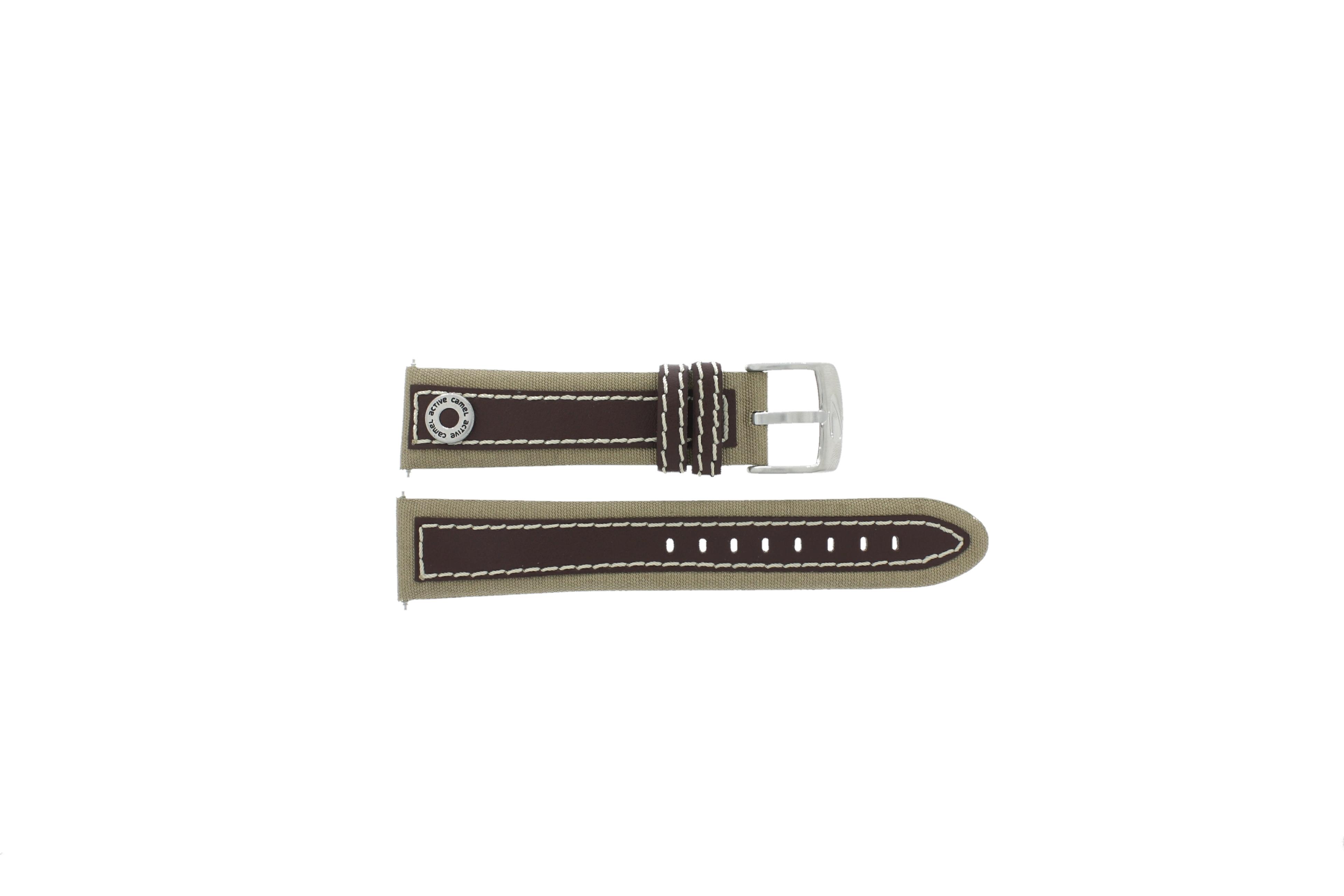 Camel horlogeband 3120-3129 / 3520-3529 Leder Bruin 22mm + wit stiksel