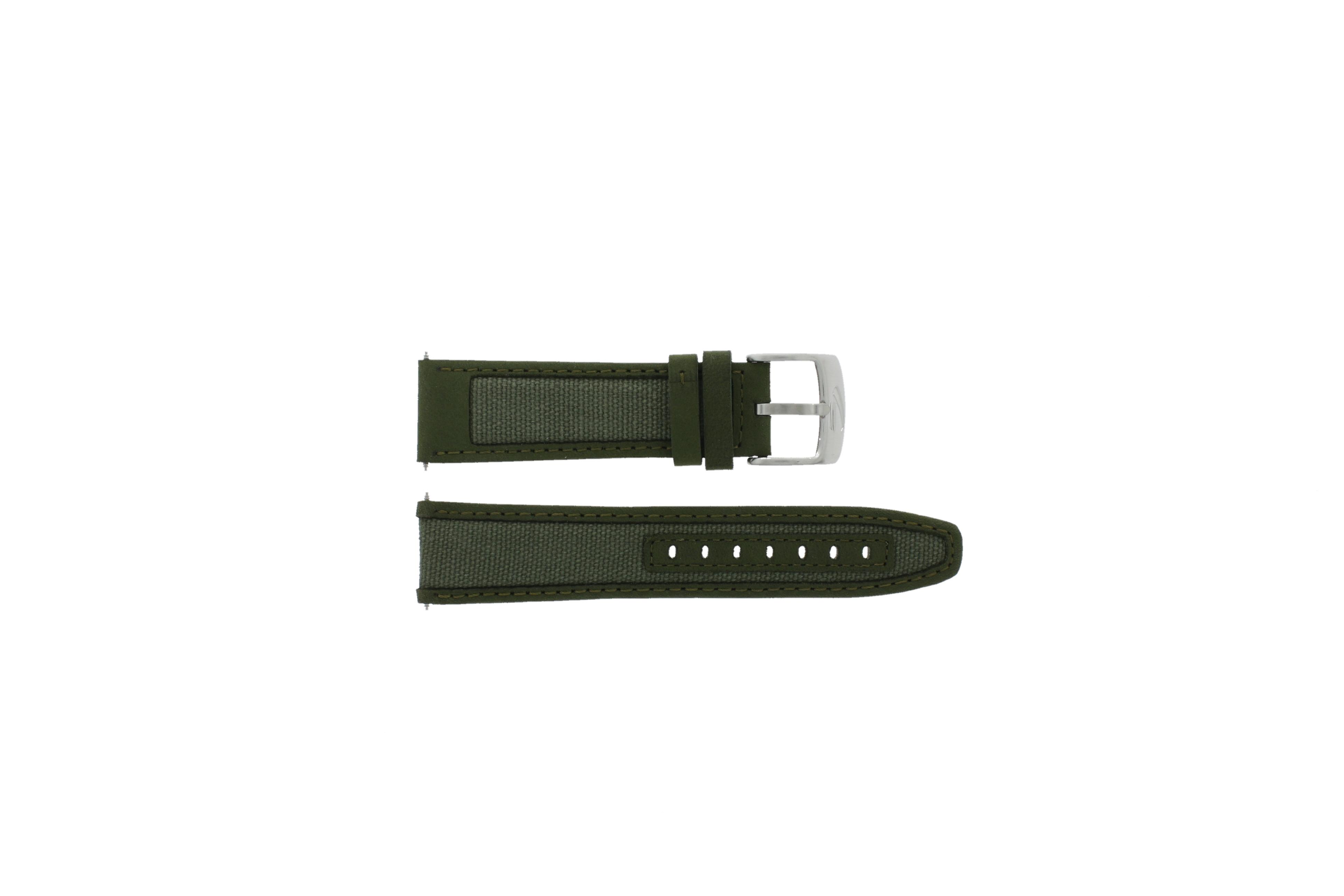 Camel horlogeband 6720-6729 / 6760-6769 Leder Groen 22mm + groen stiksel