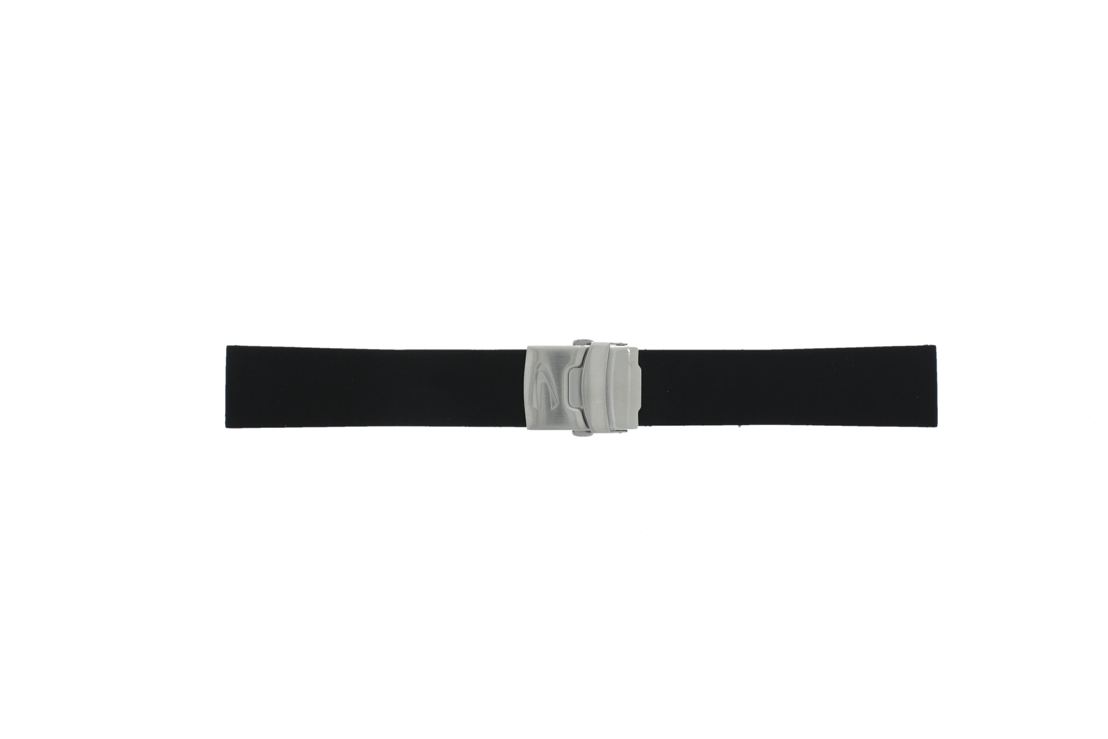 Camel horlogeband 5320-5329 Rubber Zwart 22mm