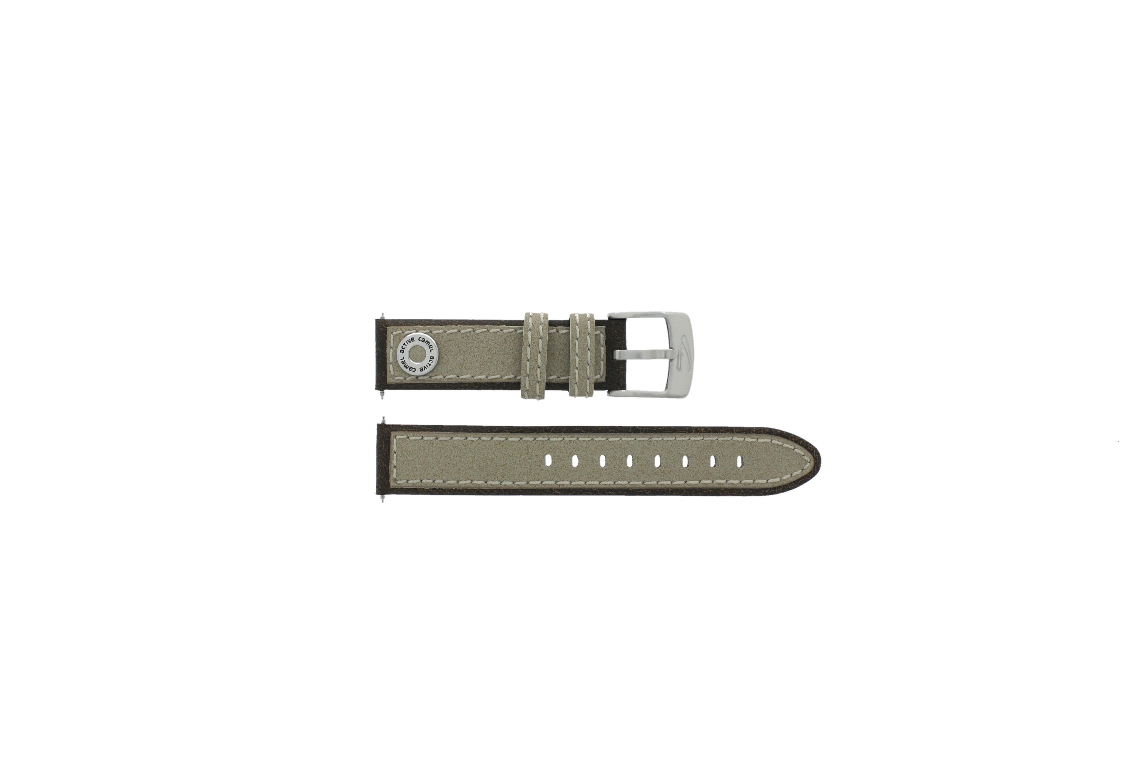Camel horlogeband Active Leder Lichtbruin 18mm + bruin stiksel