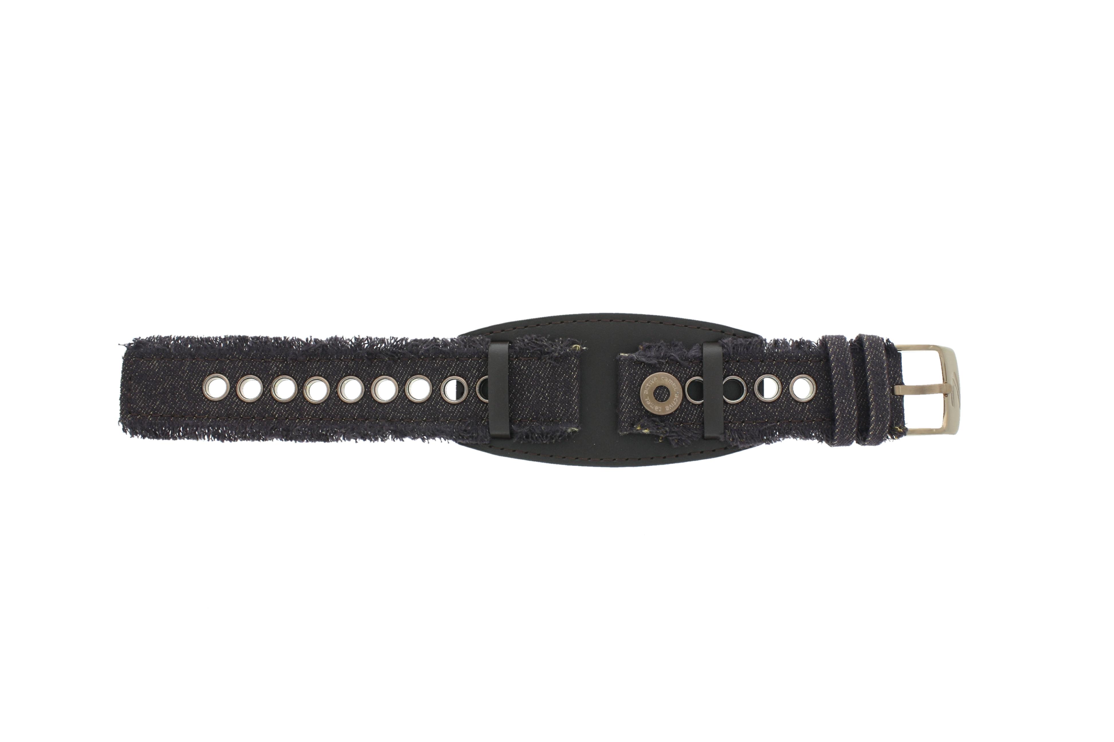 Camel horlogeband Active Leder Donkerbruin 20mm + bruin stiksel