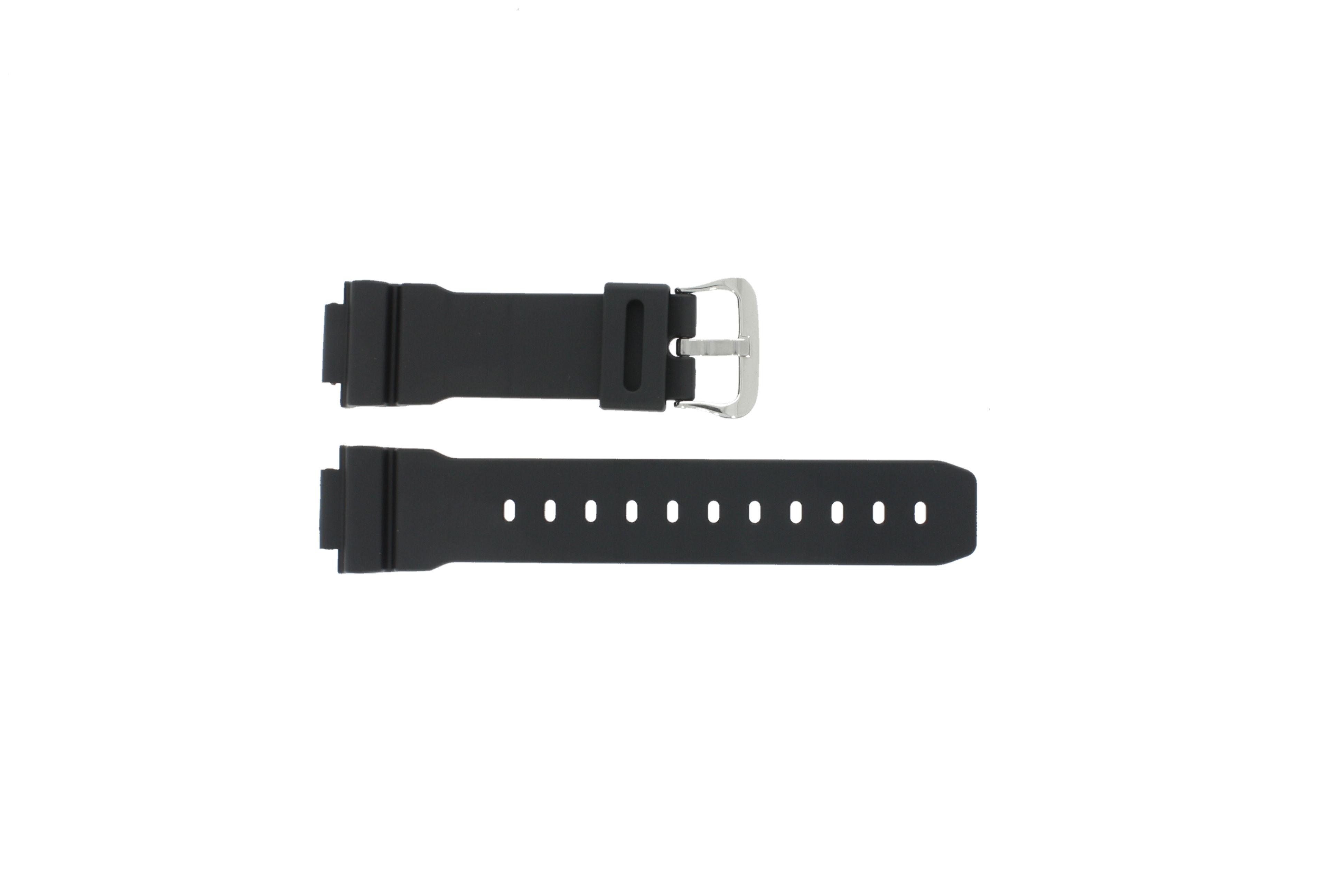 Casio horlogeband DW-004C-1VST / DW-9051-DW-9052 / 71606395 Kunststof / Plastic Zwart 16mm
