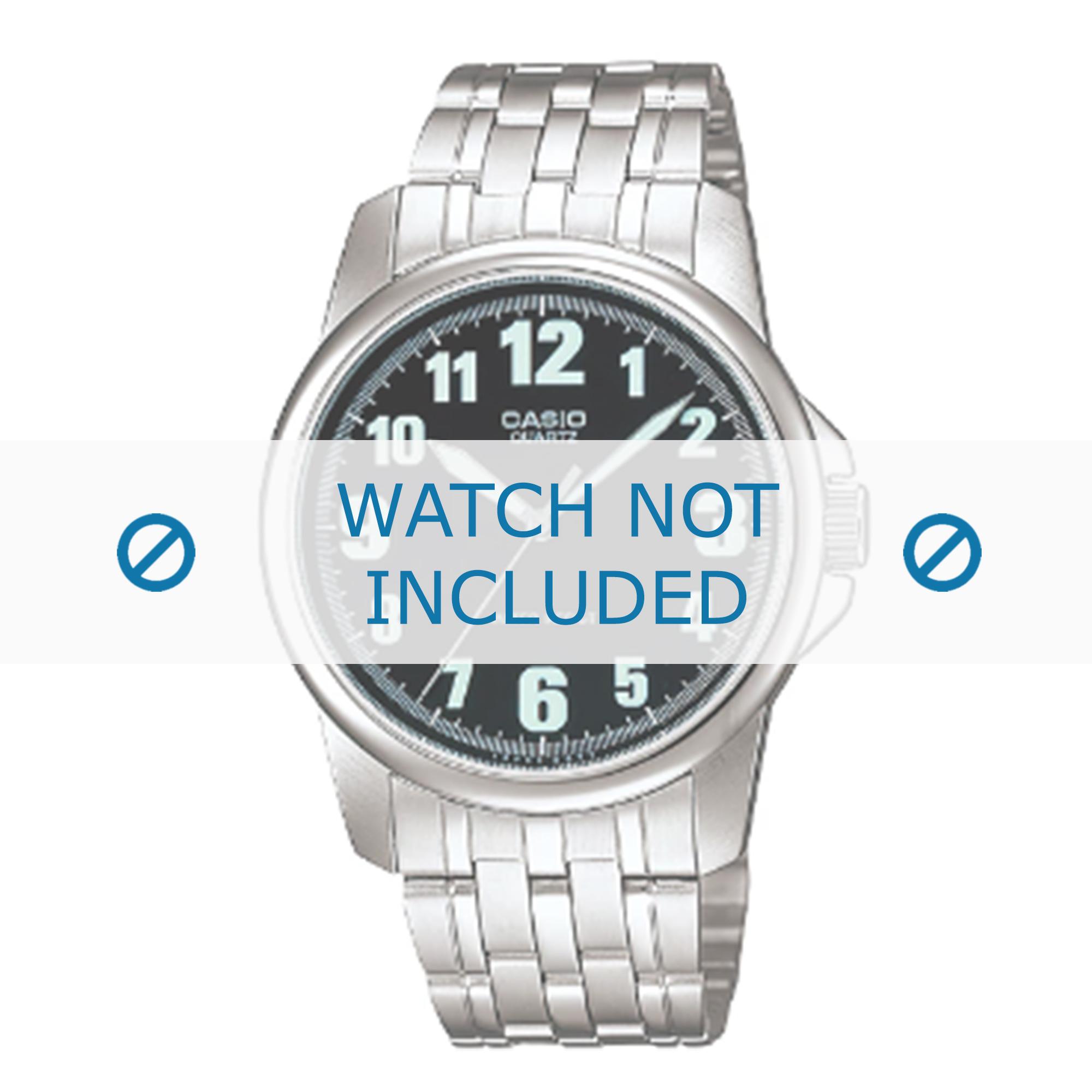 Casio horlogeband MTP-1216 / 10142092 Staal Zilver