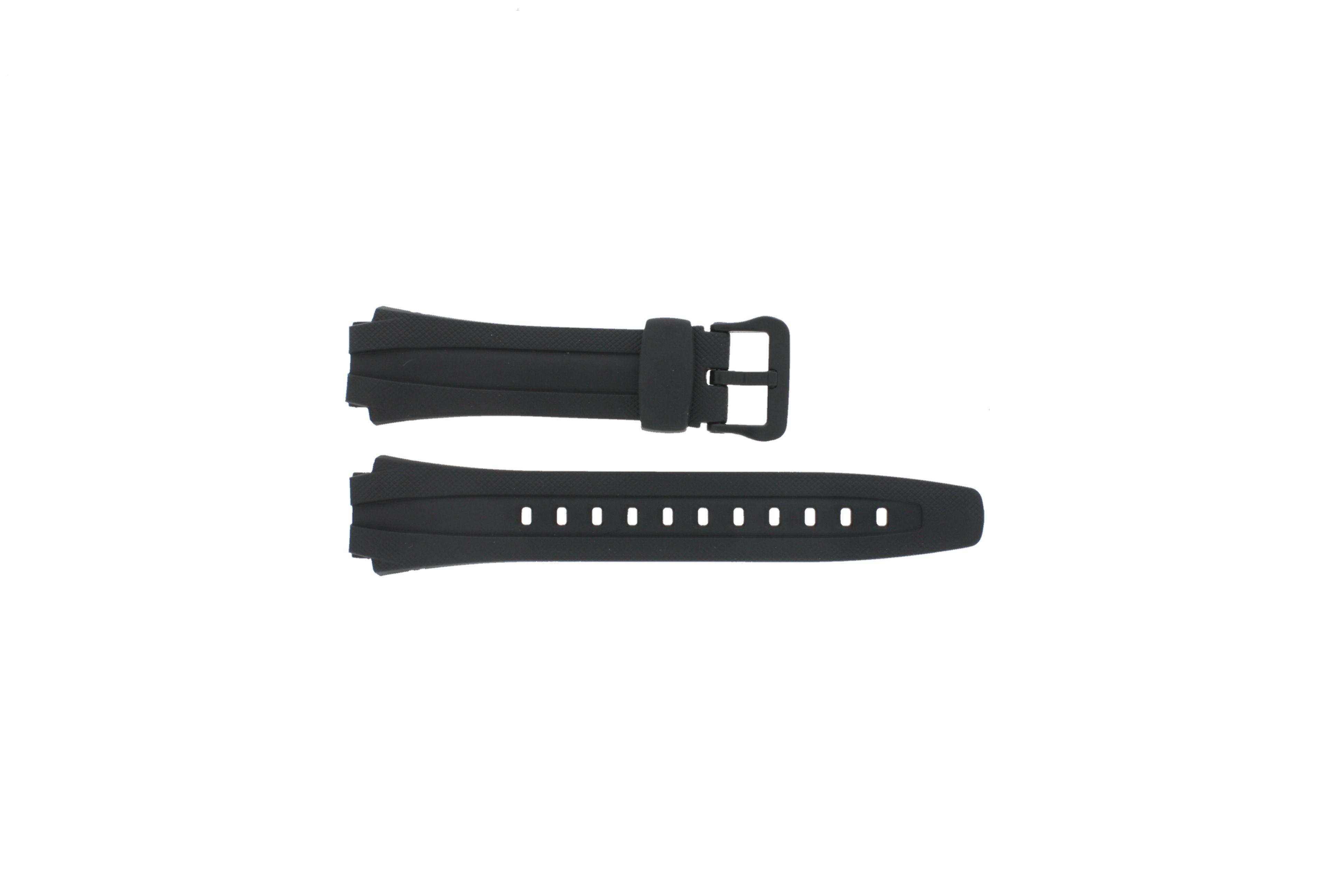Casio horlogeband AQ-160W-1BV Silicoon Zwart 17mm