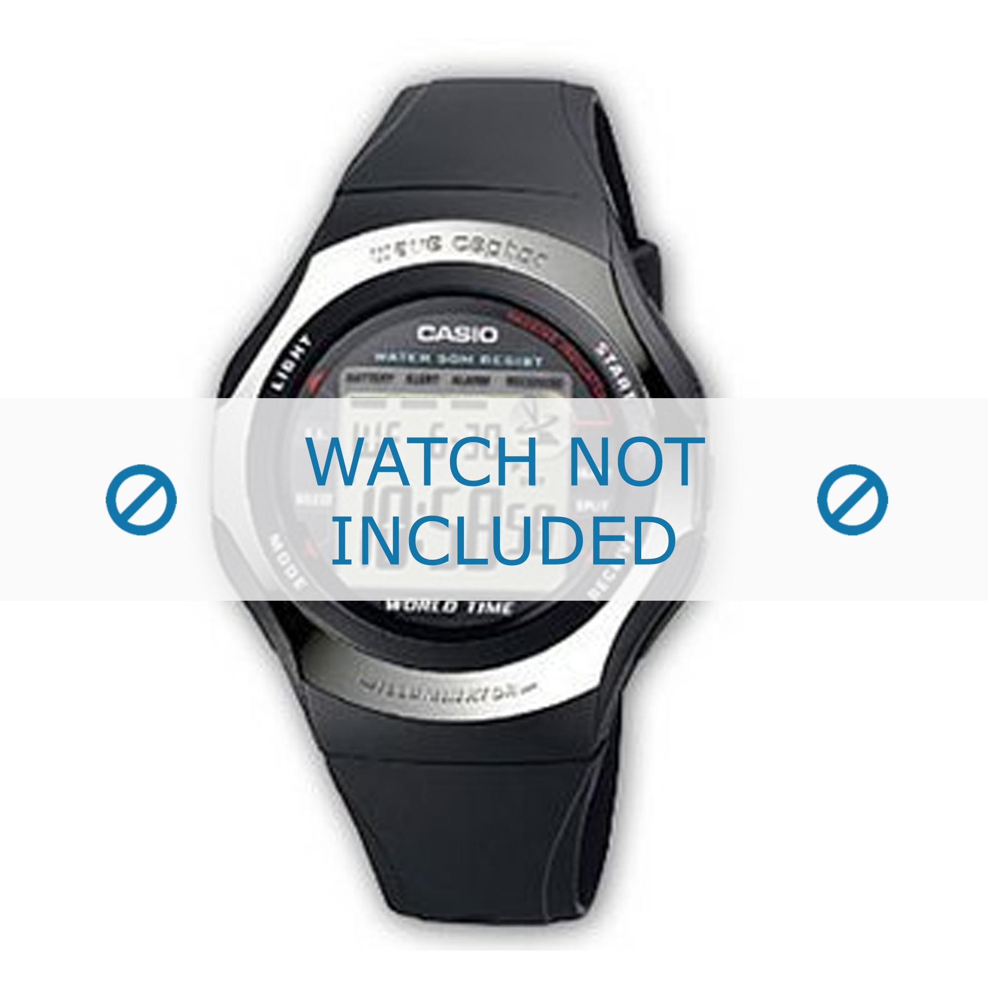 Casio horlogeband WV-56H-1AVER Rubber Zwart
