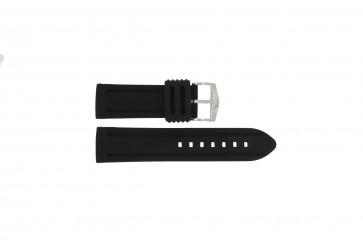 Horlogeband 5809 Silicoon Zwart 26mm