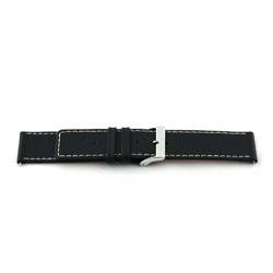 Echt lederen horloge band zwart 34mm N110