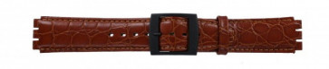 Band passend aan Swatch croco bruin 17mm PVK-SC10.03