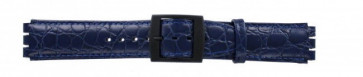 Band passend aan Swatch croco blauw 17mm PVK-SC10.05