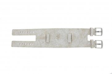 EXC horlogeband UI30 Leder Wit 24mm