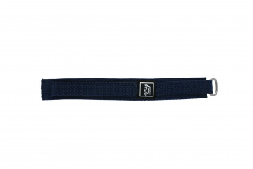 Klittenband 18mm marine blauw