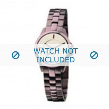 Mexx horlogeband  Staal Paars 14mm