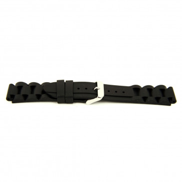 Horlogeband Rubber 24mm Zwart EX K63 26 1 24