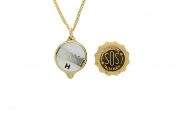 SOS talisman hanger met ketting Doublé SOSHK