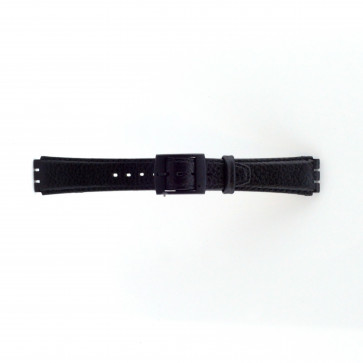Band passend aan Swatch zwart 17mm PVK-SC04.01