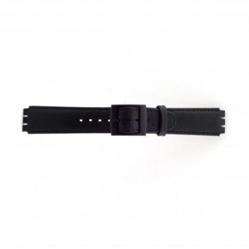 Band passend aan Swatch zwart 17mm PVK-SC11.01